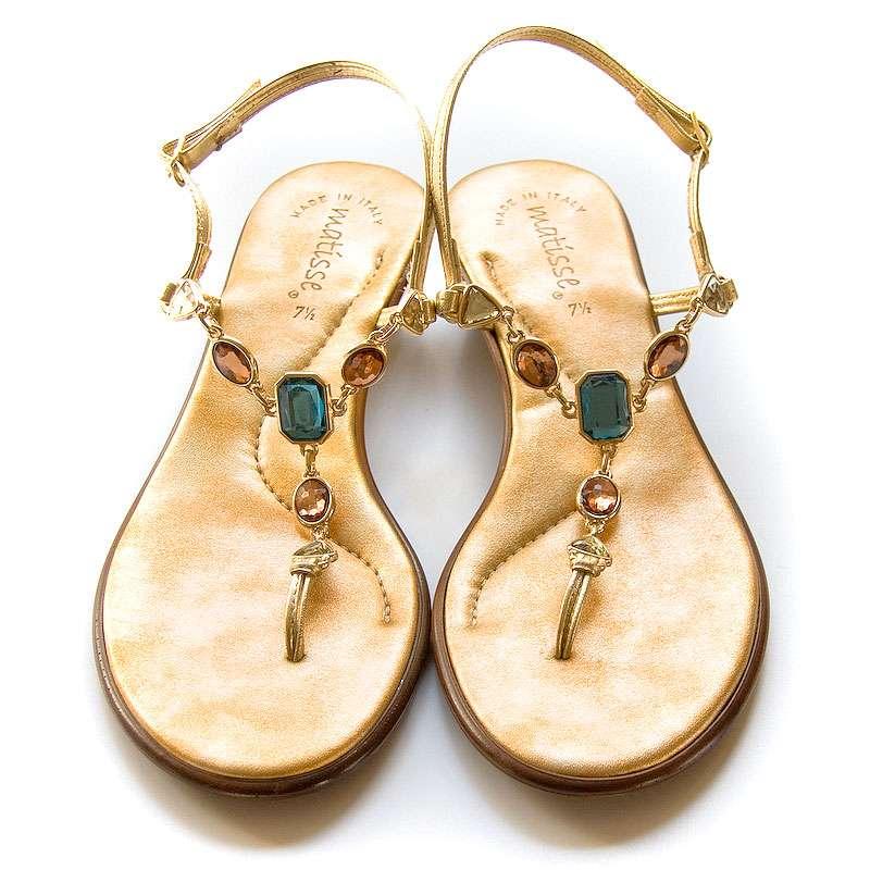0d7beabf11cdd Matisse Jeweled Sandals Flat Thong Sandals
