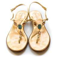Matisse Jeweled Sandals Gold