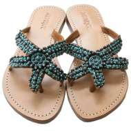 Mystique Turquoise Starfish Beaded Brown Turquoise