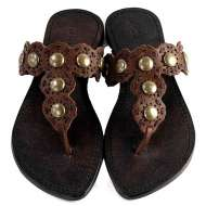 Mystique and Nail Head Sandals Brown