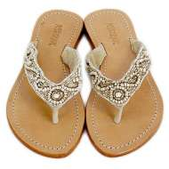Mystique Beaded Sandals Natural