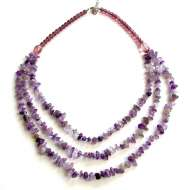 Amethyst 3 Strand Necklace