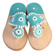Jack Rogers Palm Beach Miss Navajo Turquoise/White