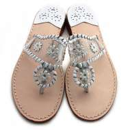 Jack Rogers Navajo Clear White