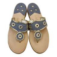 Jack Rogers Navajo Denim/Gold