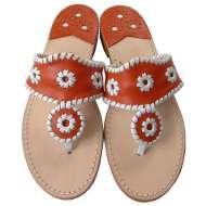 Jack Rogers Navajo Orange/White