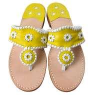 Jack Rogers Navajo Bright Yellow/White