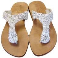 Mystique Boucle Sandals White