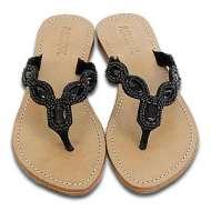 Mystique Jeweled Sandals Black