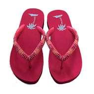 Matisse Beaded Beach Sandals Red
