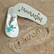 Just Married! Flip Flop White