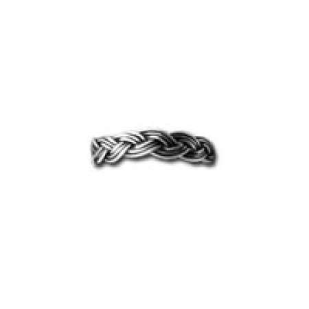 Sterling Silver Toe Ring Braided Sterling Oxidized Band