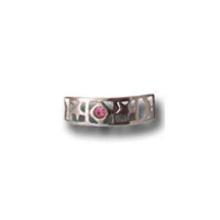 Sterling Silver Toe Ring Stars With Rose Stone